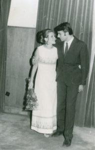 Stela Enache si Florin Bogardo, in ziua casatoriei lor - 8 septembrie 1971