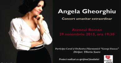 """Concert Angela Gheorghiu pentru victimele #Colectiv. """"Cred în puterea muzicii de a vindeca suflete"""""""