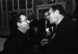 In 2001, la Moscova, cu interpretul si compozitorul Claude Nougaro. (Arhiva personala a lui Sergiu Cioiu)