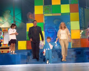"""In 2002, alaturi de Gabriela Sauciuc Cicone, la cea de-a doua editie a Festivalului """"Mamaia Copiilor"""""""