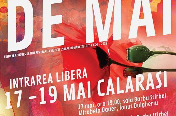 """Festival-concurs național de interpretare a muzicii ușoare românești """"FLORI DE MAI"""" / Ediția a XXXI-a / 17-19 mai"""