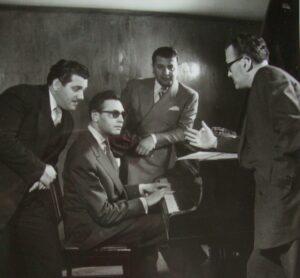 De la stânga la dreapta: Alexandru Imre, Jancy Korossy, Jean Ionescu şi Teodor Cosma.