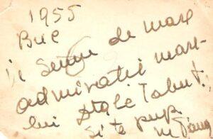 Pe verso, o dedicație pentru Alexandru Imre de la Maria Tănase.